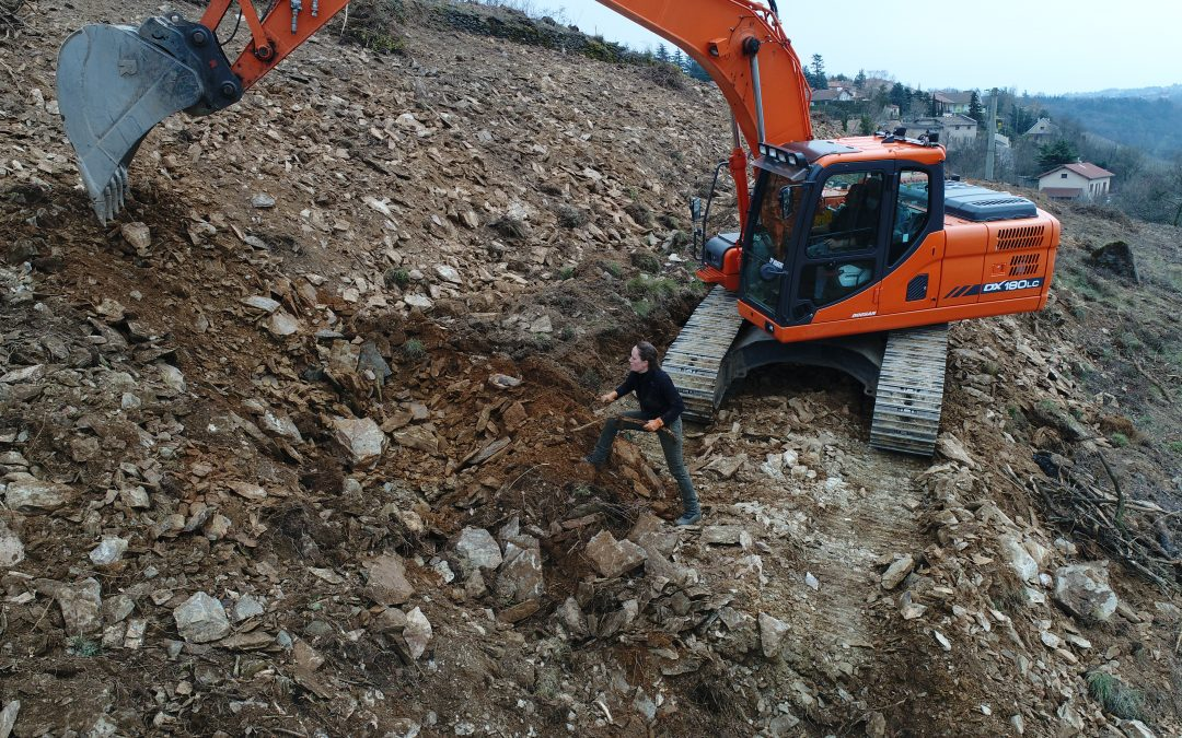 Digger in action before plantation